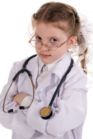 Little girl doctor shows women and girls need to shown as characters in smart and successful ways.