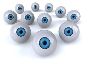 Picture of eyeballs illustrates competitive intelligence.