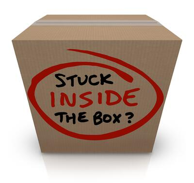 "Creative teams get ""stuck inside the box"" when they don't get competitive advertising results for stimulation."
